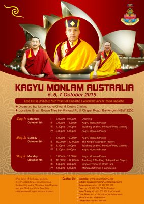 Poster for the Australian Kagyu Monlam 2019
